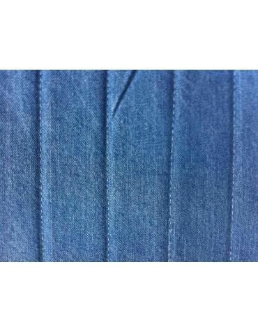 Ensemble de garnitures de sièges + banquette dossier symétrique en tissu Jean bleu denim pour 2cv Dyane