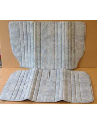 Garniture de banquette arrière 2cv bleu denim