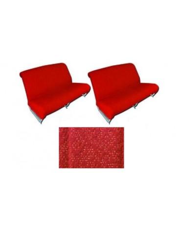Ensemble de garnitures de banquette avant + arrière diamanté rouge Ami 6