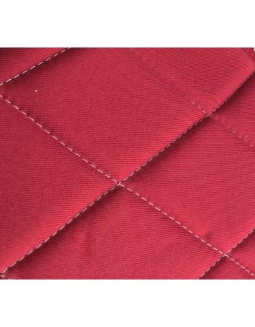 Ensemble de garnitures de sièges 2cv tissus losanges rouge foncé dossiers symétriques