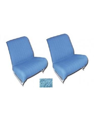 Ensemble de garniture de siège séparés et banquette arrière* diamanté bleu pour 2cv AZAM