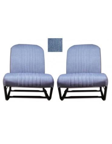 Ensemble de garnitures de sièges dossier symétrique en skai jean