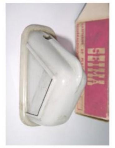 Lanterne de plaque gris triangulaire Seima