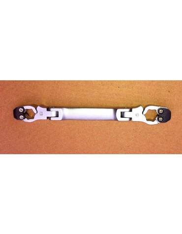 Clé à tuyauter articulée pour conduite de freins 8 et 9 mm