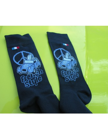 Paire de chaussettes homme 39/42 French Style bleu