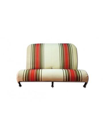 Garniture de banquette arrière rabattable Dyane rayé beige et rouge