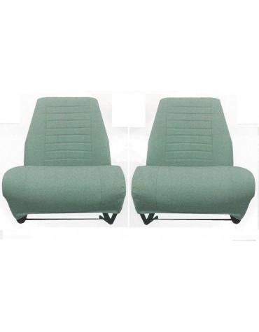 Garniture de siège avant gauche + droit  en tissu diamanté vert Ami 8