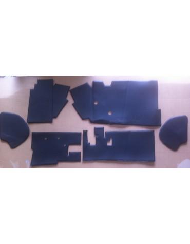 Garnitures intérieure de boite à gants  2cv après 1970 6 pièces