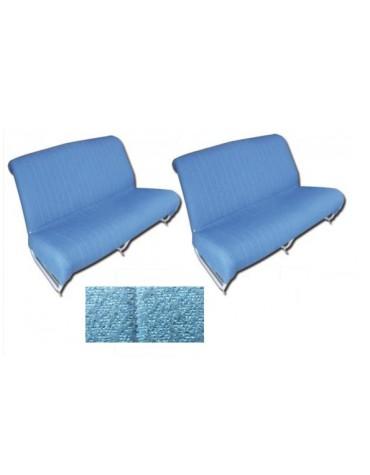 Ensemble de garnitures de banquette avant + arrière * diamanté bleu 2cv AZAM