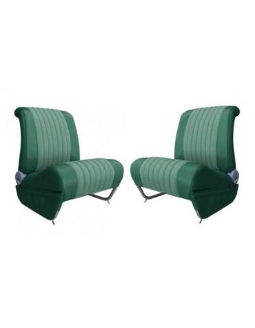 Garnitures de siège avant gauche + droit Ami 6 Club en tissu diamanté vert et skai vert