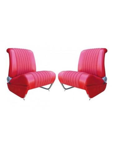 Garnitures de siège avant gauche  + droit Ami 6 Club rouge