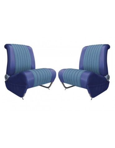Garnitures de siège avant gauche et droit Ami 6 Club diamanté bleu  sur commande