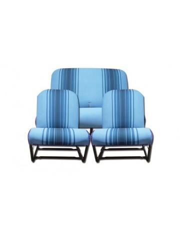 Ensemble de garnitures rayées bleues  siège symétriques pour 2cv et Dyane