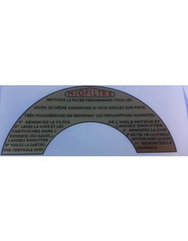 Grand autocollant en demi cercle pour filtre Miofiltre Livraison offerte en France continentale