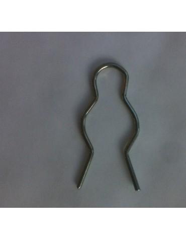 Clip pour le support en plastique noir du cable d'accélarateur au niveau du support sur le carburateur