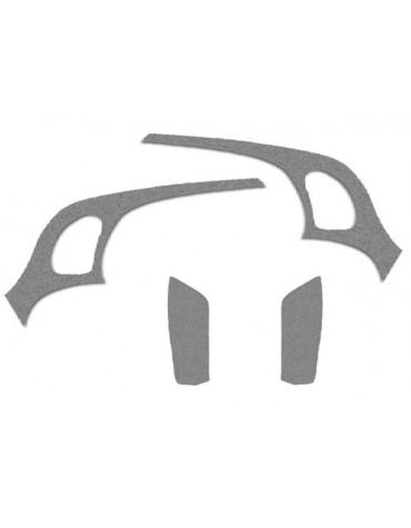 Habillage latéral 2CV limousine 2 côtés + passages de roues en feutrine gris clair