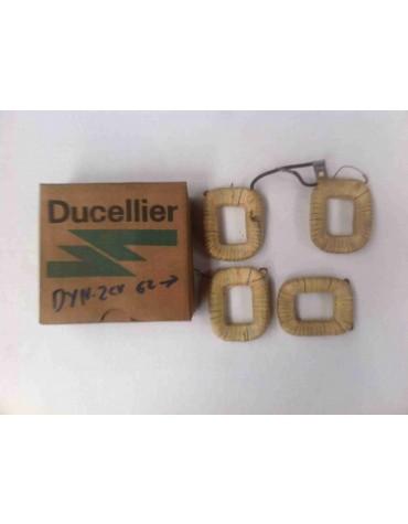 Jeu de 4 bobines pour dynamo Ducellier 2cv après 1962