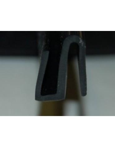 Joint caoutchouc double lèvre de cadre métallique glace arrière 2cv
