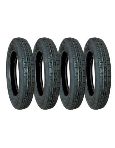 Lot de 4 pneus 125r 15 2cv même profil que le Michelin