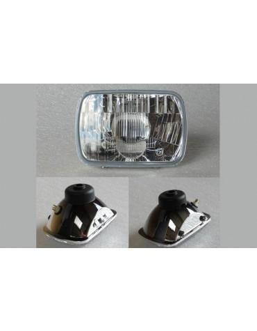 Optique de phare rectangulaire 2cv avec cuvelage métal refabrication