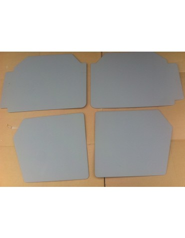 Ensemble de 4 panneaux de porte gris clair veiné 2cv AZAM et AZA portes dans le nouveau sens
