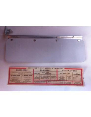 Pare soleil cartonné pour 2cv avant mars 1963 avec notice autocollant 2cv AZ