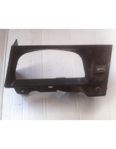 Platine plastique noir nue pour compteur 2cv Charleston sans interrupteurs, voyants et pompe de lave glace (photo non contractuelle)