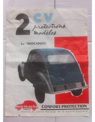 Protection de capote 2cv par Mod'Plastia