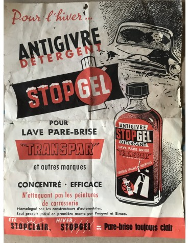 Publicité Transpar pour l'antigivre détergent