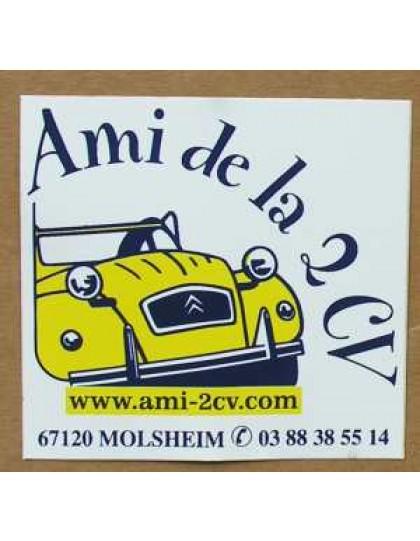 Autocollant Ami de la 2cv Molsheim