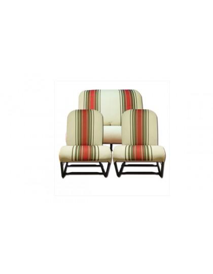 Ensemble de garnitures de siège beiges rayées rouges symétriques