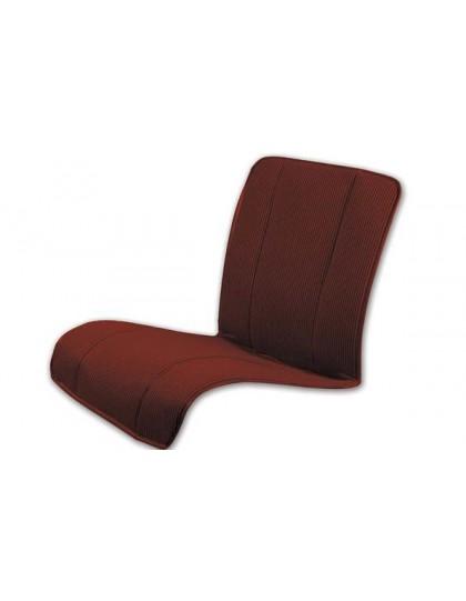 Ensemble de quatre garnitures de siège type bayadère marron 2cv assise renforcée* ourlet gris ou noir selon arrivage