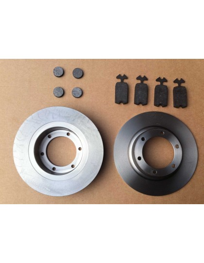 Ensemble disques de freins plus plaquettes marque Roadhouse ou Klaxcar