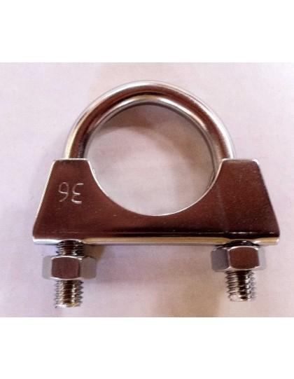 Collier de silencieux 36 mm en inox 2cv