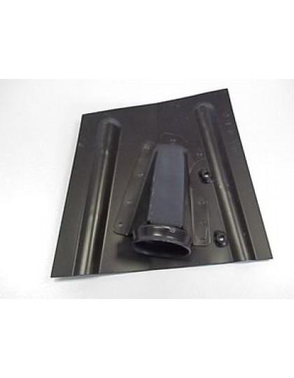 Support de butée de caoutchouc, droit 2cv  nouveau modèle sans doublure à l'intérieur