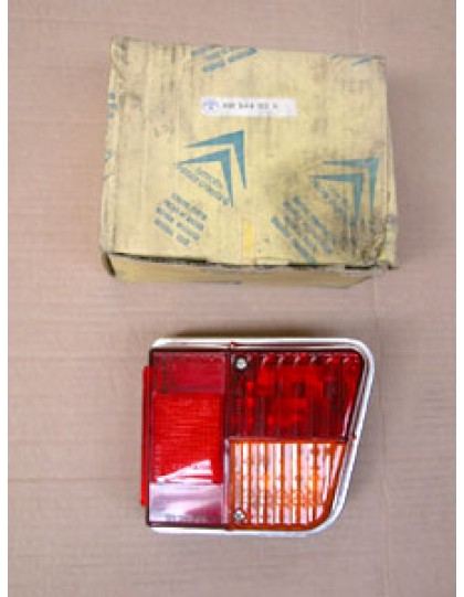Cabochon de feu arrière droit 2CV 4 et 6 avant 1972 avec entourage aluminium