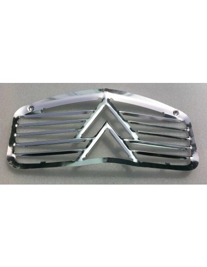 Calandre 2cv en aluminium double chevrons