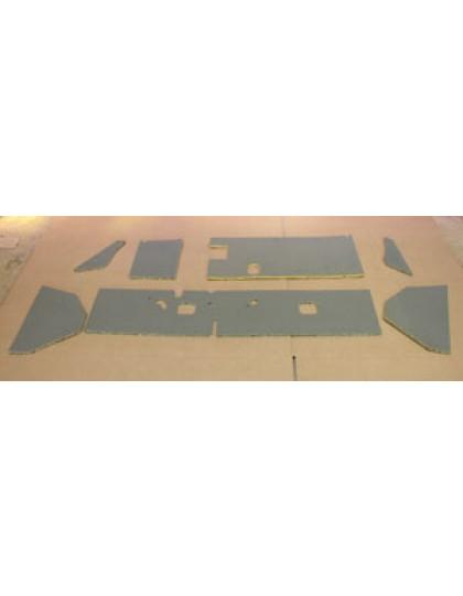 Garniture de planche de bord grise 7 pièces 2CV AZA/AZAM
