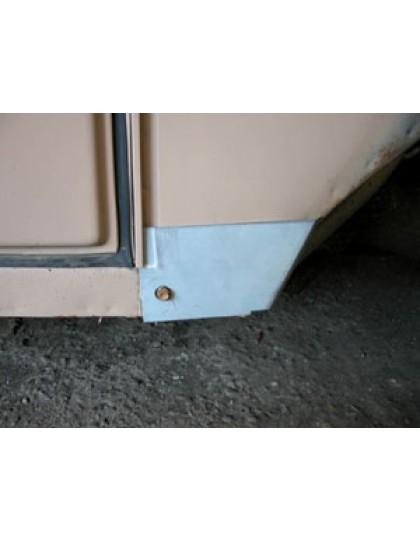 Tôle de réparation du bas de tôle latérale d'auvent droit 2cv