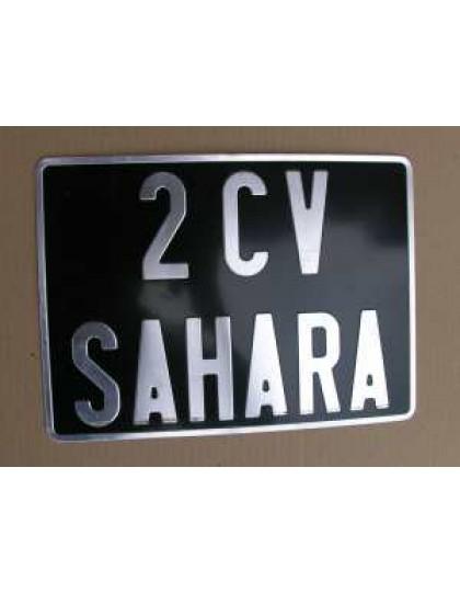 Plaque d'immatriculation arrière 27.5 X 20 carrée Acadiane