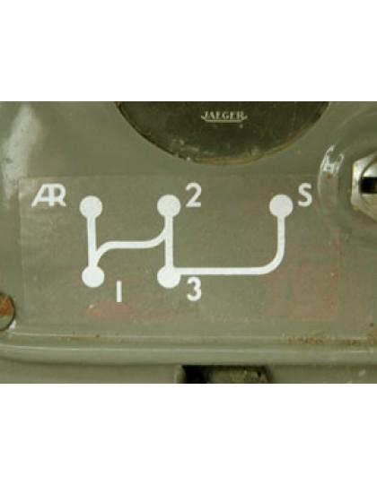 Autocollant grille vitesse 2CV premier modèle
