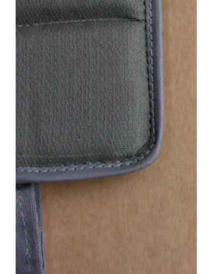 Ensemble de 4 garnitures de sièges gris unis à sangles