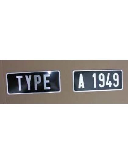 Plaques d'immatriculation arrière 2 parties fourgonnettes et 2cv avant 1964 255 x 100