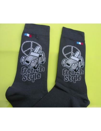 Paire de chaussettes Hommes 43/46French Style gris