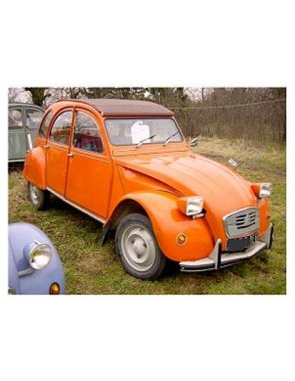 2 CV 6 Club orange Ténéré de  1975