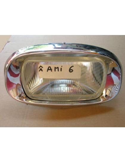 Bloc optique Ami 6 avec trou de veilleuse support et enjoliveur