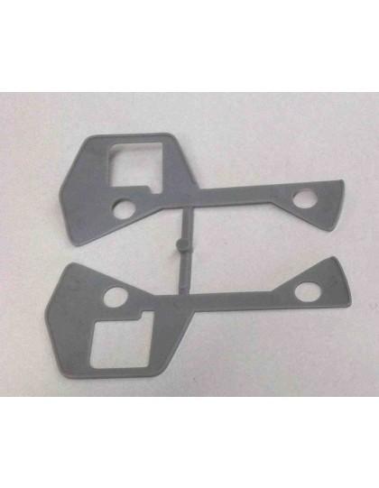 Paire de  joints de poignée de porte Dyane en plastique gris