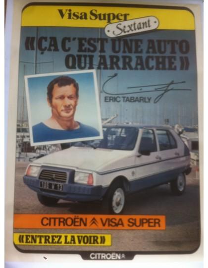 affiche Visa Sextant et Eric Tabarly