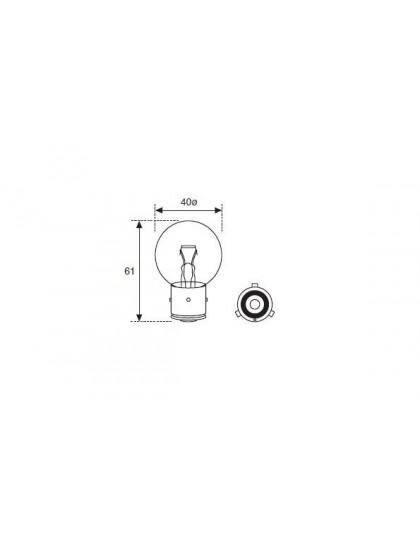 Ampoule 12 volts blanche 45/40W montage à baionnette