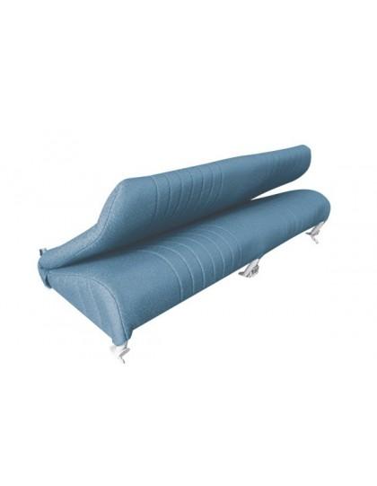 Option garniture de banquette arrière pliable diamanté bleue 2cv AZAM à commander en plus d'un ensemble complet de garnitures